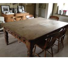 Old Fashioned Kitchen Table Large Antique Pine Kitchen Table A11845 318915