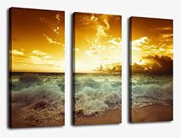 sunset sea beach canvas prints wall art decor framed 30x42 inch framed ready to hang  on amazon beach canvas wall art with amazon sunset sea beach canvas prints wall art decor framed