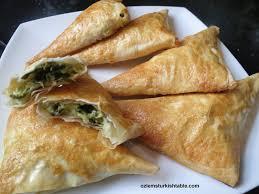 spinach and feta cheese filo triangles muska boregi