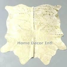 white gold cowhide rug chevron cow skin gold cowhide rug gray white