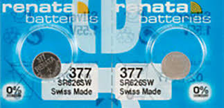 2x Renata 377 Watch Batteries 0 Mercury Equivilate Sr626sw