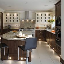 lighting for kitchens ideas. kitchen with neutral flooring veneer cabinetry island unit granite worktops and plinth lighting for kitchens ideas l