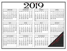 2019 12 Month Miheart Magnetic Refrigerator Calendar 8 5