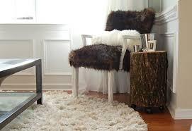 tree stump side table
