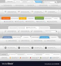 Free Menu Design Website Web Site Design Menu Elements With Icons Set