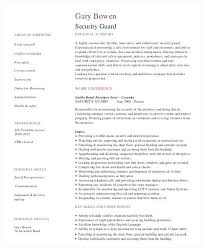 Resumes For Security Officers Guard Resume Sample Objectives Armed