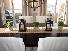 simple dining room table decor. Ideas. Appealing Home Brown Tone Dining Room Furniture Design Showing Simple Wooden Table With Decor