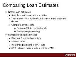 Compare Loans Side By Side Redfins Free Mortgage Class San Diego Ca