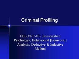criminal profiling fbi vi cap investigative psychology 1 criminal profiling