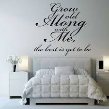 wall art words bedroom