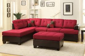 um size of red sectional sofa with recliner modern red leather sectional sofa red leather sectional