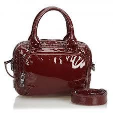 prada vintage patent leather satchel bag red leather handbag luxury high quality avvenice