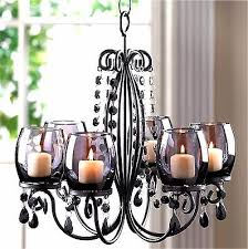 midnight elegance 6 smoke glass candle cup chandelier nib