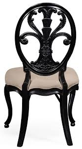 dining chairs black painted sheraton style oval back side chair
