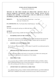 board of directors minutes of meeting template minutes of first board of directors meeting