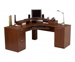 wonderful interior curved office desk idea come with freestanding computer