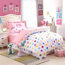 cover queen kids colorful polka dot cute comforter bedding sets twin size 100 cotton bedspreads with reversible duvet