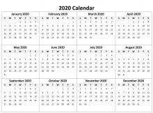 Editable 2020 Monthly Calendar Printable Calendar Archives Printable Calendar Templates