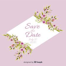 Watercolor Floral Save The Date Template Vector Free Download