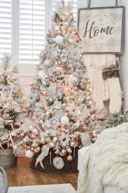 Light Pink And White Christmas Tree The Little Cottage At Christmas Fox Hollow Cottage