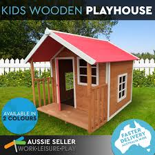 image is loading kids outdoor wooden timber playhouse cubby house pretend