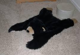 cute faux bearskin rug for kids