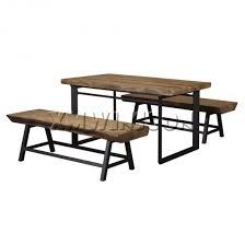 magnesium oxide rectangle dining room table with bench seat aa8010