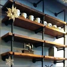 iron pipe shelving kit shelf brackets black shelves