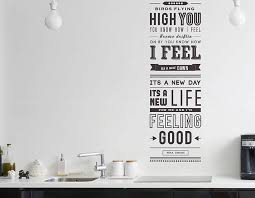 Wall Sticker Quotes Magnificent Feeling Good' Quote Wall Sticker Contemporary Wall Stickers