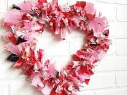 how to make a valentine s heart fabric rag wreath a cute valentine s day craft idea