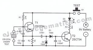 crystal tester circuit crystal tester circuit diagram