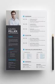 Clean And Creative Kavien Pellier Resume Template 71008