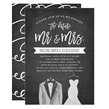 Couple Wedding Shower Invitations Tux And Dress Couples Wedding Shower Invitation
