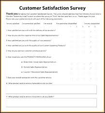 Customer Satisfaction Service Questionnaire Template Survey Download