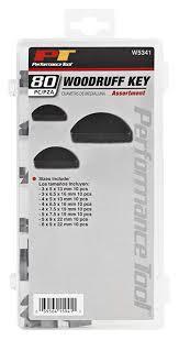 Performance Tool W5341 80pc Woodruff Key Assortment Metric