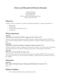 Cover Letter Template Entry Level Entry Level Psychology Resume