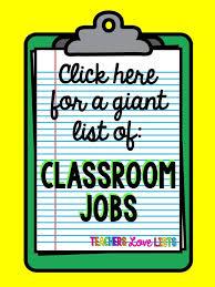 First Grade Job Chart Classroom Jobs List Of Pretty Much Every Kindergarten First