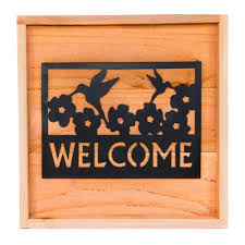 hollis wood products 18 in x 18 in wood wall art with welcome sign on outdoor wall art home depot with hollis wood products 18 in x 18 in wood wall art with welcome sign