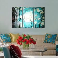 Diy Canvas Painting Buddhist Love Calmness Buddha Painting Designs 12x24x3pcs Diy
