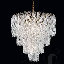 nova tulip 2000 45 italian murano glass chandelier finished in chrome or gold dia45cm x h50cm 4no e27