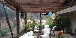 Set up a temporary sunroom on your patio.