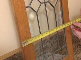 how to add antique leaded glass to cabinet doors