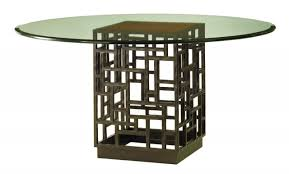 image of modern dining table bases for glass tops