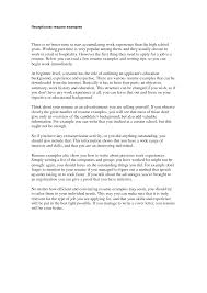 Cover Letter Example For Hotel Receptionist Lezincdc Com