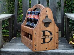 wooden beer tote personalized beer tote