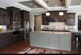 Dark Brown Kitchen Cabinets Grey Island Contrast Dark Brown Kitchen Cabinets Dark Brown Cabinets Brown Kitchen Cabinets