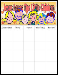 Sunday School Attendance Chart Free Printable Pin By Mara Rivera On Sunday School Ideas Sunday School