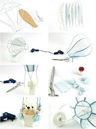 hot air balloon themed nursery lamp teddy bear basket peter rabbit shade baby room decor ideas
