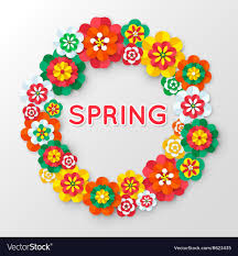 Paper With Flower Border Spring Cutout Paper Flowers Spring Banner