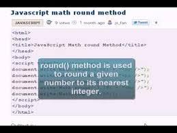 javascript tutorial math round